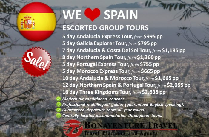 We love Spain: Escorted Group Tours