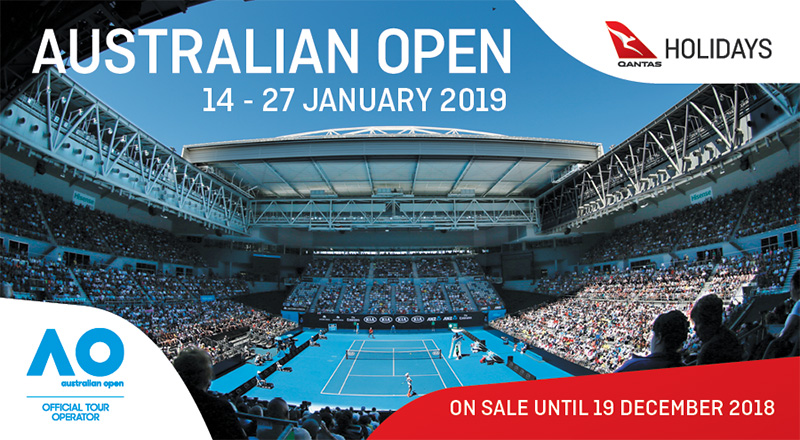 Grand Slam! Australian Open Finals Packages wth Qantas Holidays