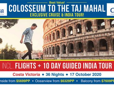 EXCLUSIVE Cruise & India Tour | Colosseum to the Taj Mahal