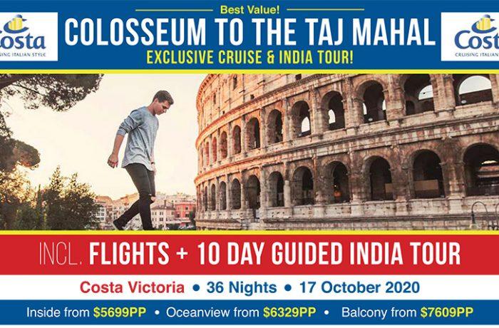 EXCLUSIVE Cruise & India Tour | Colosseum to the Taj Mahal