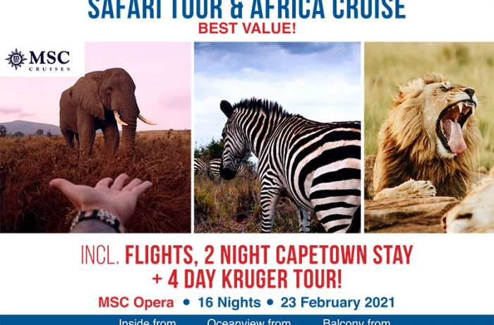 EXCLUSIVE: Safari Tour & Africa Cruise | 16 nights from $4399pp!